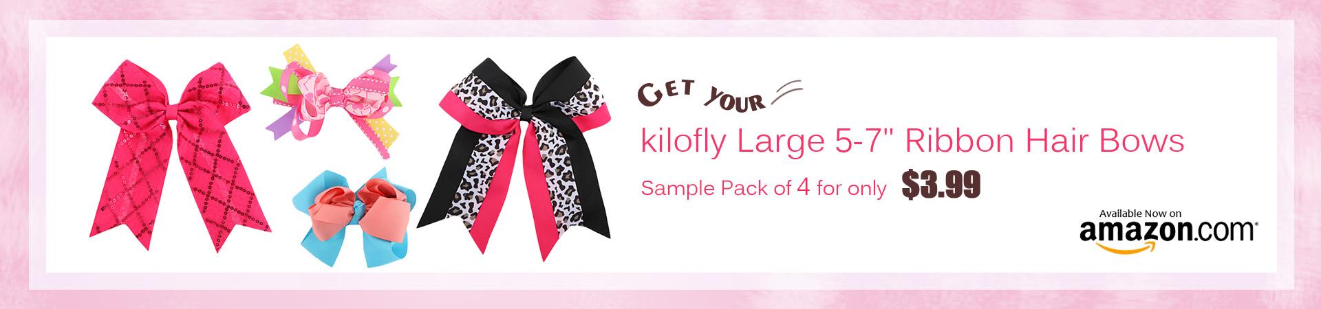 kilofly girls big hair bows