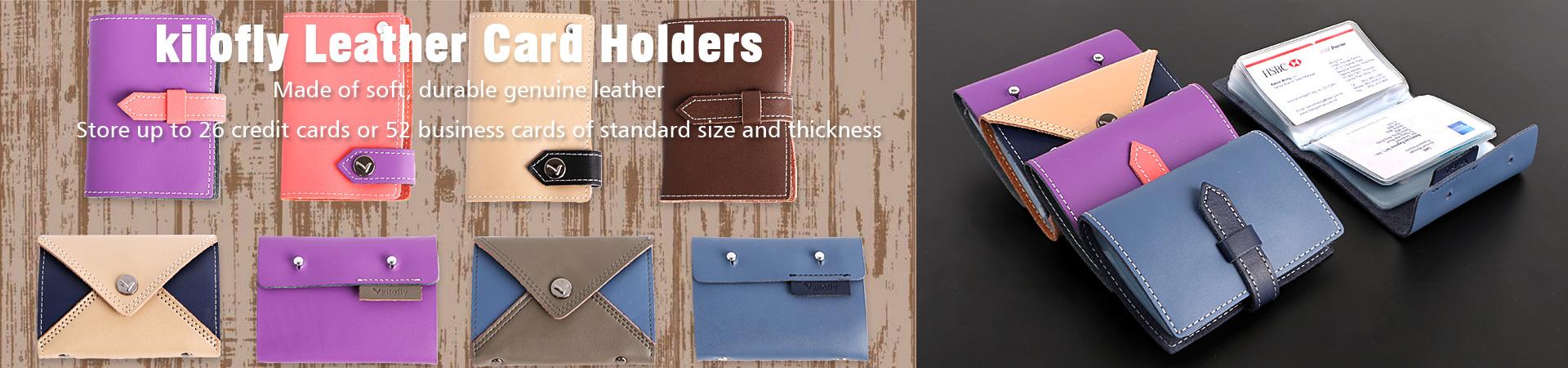 kilofly leather card holders
