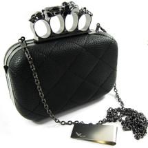 Missy K Skull Ring Clutch Purse, Hard, Detachable Strap + kilofly Money Clip
