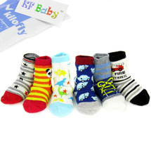 KF Baby Non-Skid Cozy Soft Socks [Set of 6 Pairs], 6 - 18 Months