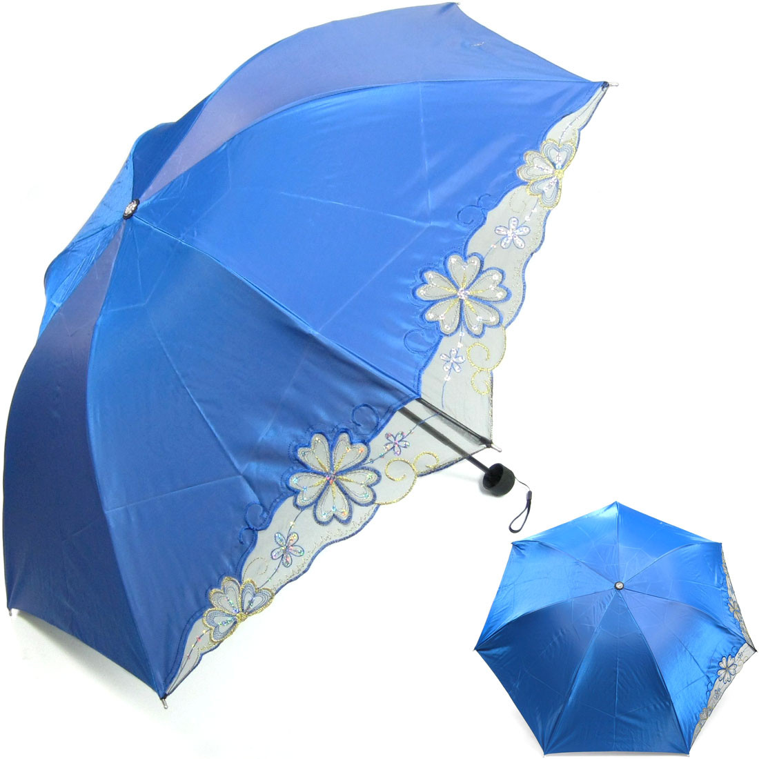 kilofly anti uv folding color gradient parasol umbrella. Black Bedroom Furniture Sets. Home Design Ideas