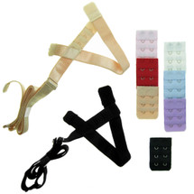 kilofly Low Back Bra Strap Converter Value Pack [Set of 2 + 7 Bra Back Extender]