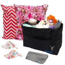 KF Baby Diaper Bag Insert Organizer + Waterproof Wet Bags Bandana Bibs Combo