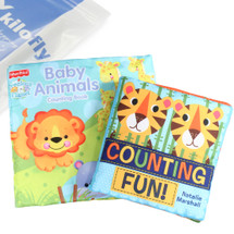 KF Baby Cloth Book Value Pack [Set of 2] - Baby Animals, Counting Fun