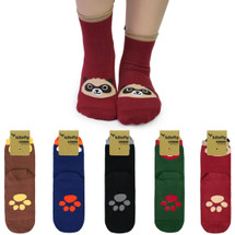 kilofly Novelty Crew Socks Value Pack [Set of 5 Pairs] - Cute Animals