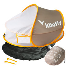 kilofly Instant Pop Up Portable Baby Travel Bed with Sleeping Pad + 2 Pegs