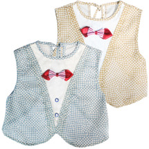 KF Baby Boys Girls Large Super Absorbent Dress Up Bowtie Bibs, Value Pack of 2