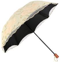 kilofly Anti-UV Lace Embroidery Sun Protection Folding Parasol Rain Umbrella