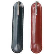 kilofly 2pc Genuine Leather Sleeve Slim Protective Pouch Pen Holder Case Set