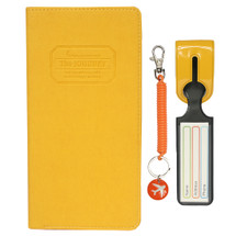 kilofly Multi Pocket Passport Cover + Luggage Tag + Coil Keychain Travel Combo