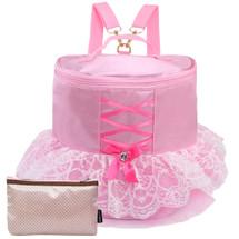 kilofly Ballerina Ballet Tutu Pink Dress Dance Bag Backpack + Zippered Pouch