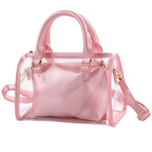 kilofly Women's 2-in-1 Clear Transparent Handbag Crossbody Purse Shoulder Bag