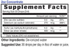 2oz Concentrate Immune Support Blend supplement facts - Eidon Ionic Minerals