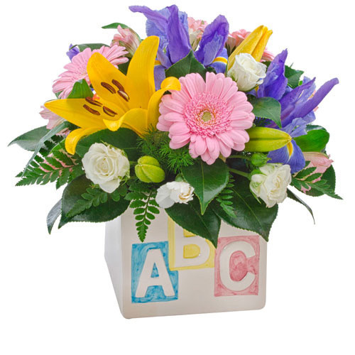 My First ABC - Flowers and Cube for the new baby