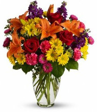 Colourful (without vase)...free delivery