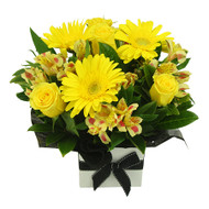 NEW!! Yellow/ Spray Rose Arrangement..sub'  white Alstroemeria
