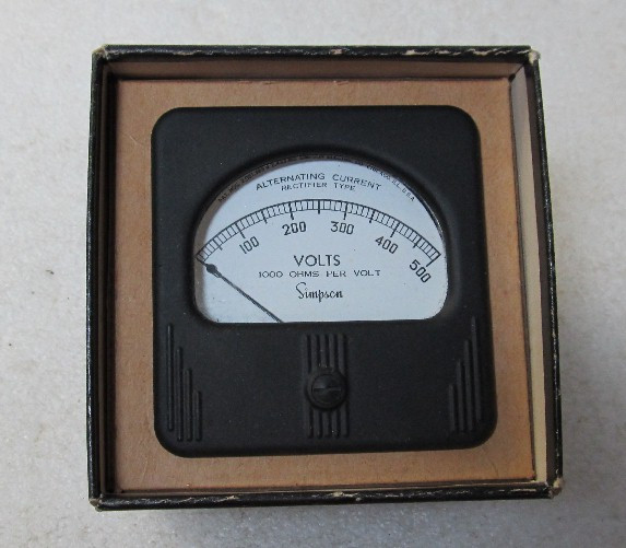Simpson Panel Meter : Simpson volts ac panel meter in excellent condition