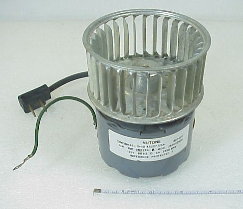 Blower motor with squirrel cage circular fan 115 vac for Squirrel cage fan motor