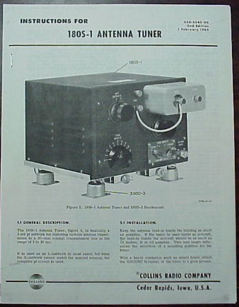 collins180s1manual__83898.1448515200.800.1000?c=2 collins 180s 1 antenna tuner manual reproduction nationwide  at reclaimingppi.co
