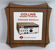 Collins Rockwell International Amateur Products Authorized Distributor Plaque Featuring the KWM-380