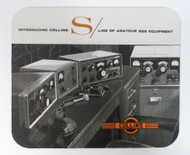 Collins S Line Mouse Pad Featuring the S-Line with 30S-1 Amplifier
