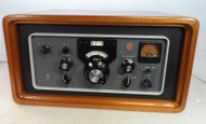 Collins Round Emblem 51S-1 Communications Receiver in Beautiful Custom Made Wood Cabinet with Dust Cover  S/N 7072