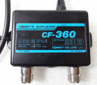 Comet CF-360 Duplexer 1.3 to 30 MHz on one port  49-470 MHz on the other