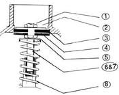 """(6) TEE VALVE STEM SCREW, """"C"""" SERIES (WR2-5-4C, WR2-6-4C, WR7-4C)"""