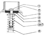 """(1) VALVE JAM NUT, """"C"""" SERIES (WR2-5-4C, WR2-6-4C, WR7-4C)"""