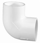 """1"""" PVC 90° Ell Slip Sch 40 (PF 406-010)"""