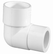 "1-1/4"" x 1"" PVC Reducing 90° Ell Slip Sch 40 (PF 406-168)"