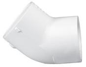 """2-1/2"""" PVC 45° Ell Slip Sch 40 (PF 417-025)"""
