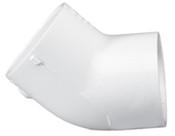 """10"""" PVC 45 ELL SLIP SCH 125 (PF 12517-100)"""
