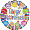 Happy Retirement Speech Bubble 18 Inch Foil Balloon
