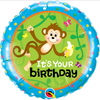 Birthday Monkeys Go Bananas 18 Inch Foil Balloon Side 1