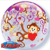 Monkeys 22 Inch Bubble Balloon