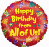 Happy Birthday From All Of Us 18 Inch Foil Balloon