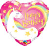 Happy Birthday Magical Unicorn 18 Inch Foil Balloon