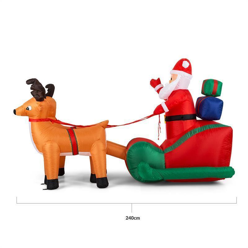 1.4m Santa, Sleigh & Reindeer Hire
