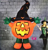 Halloween 3m Standing Pumpkin With Hat Hire