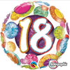 18th Birthday Holographic Big Dots & Gltiz 18 Inch Foil Balloon