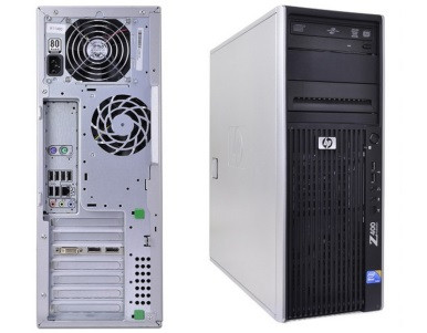 HP Z400 Workstation - Front and Back view