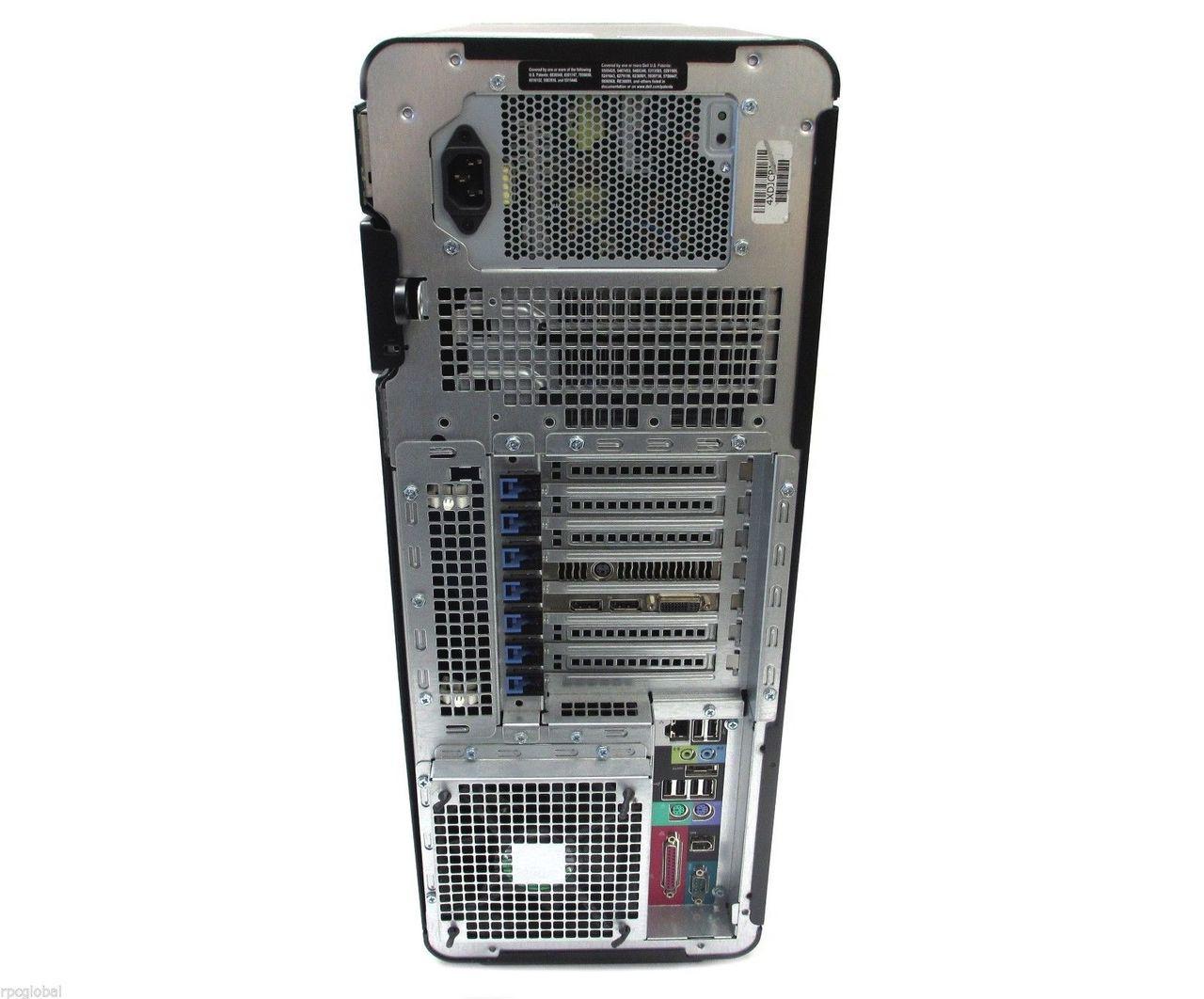 Dell Precision T7500 - Rear view