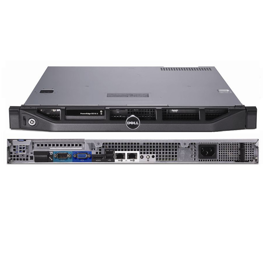 refurbished dell poweredge r210 ii 1u rack server configure to order. Black Bedroom Furniture Sets. Home Design Ideas
