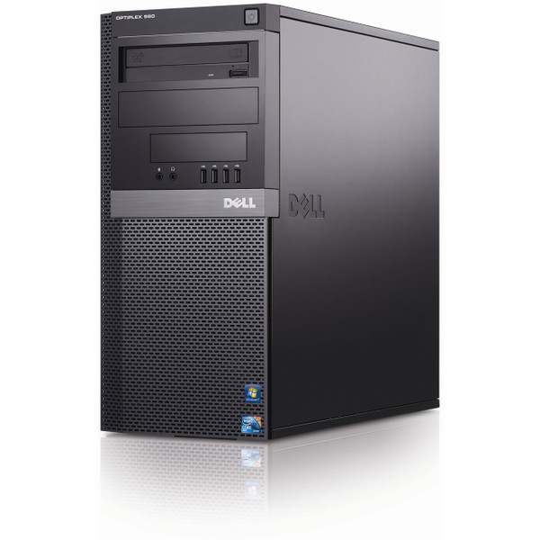 Refurbished Dell optiplex 980 Mini Tower Quad Core i7 - Front view