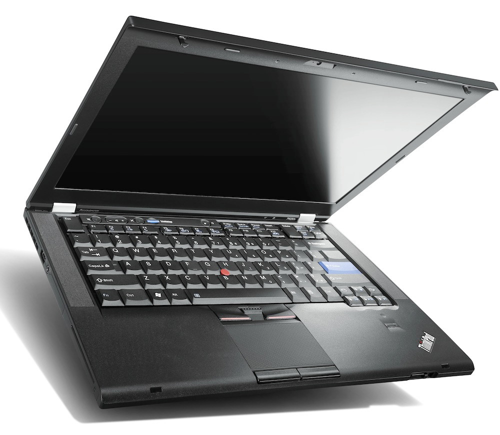 Lenovo T420S keyboard and screen display view