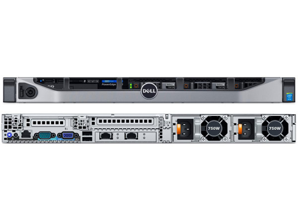 Dell PowerEdge R630 - Front & Rear View
