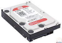 Western Digital 3TB 3.5'' SATA 5.4K NAS Hard Disk Drive - WD30EFRX - front - top - view