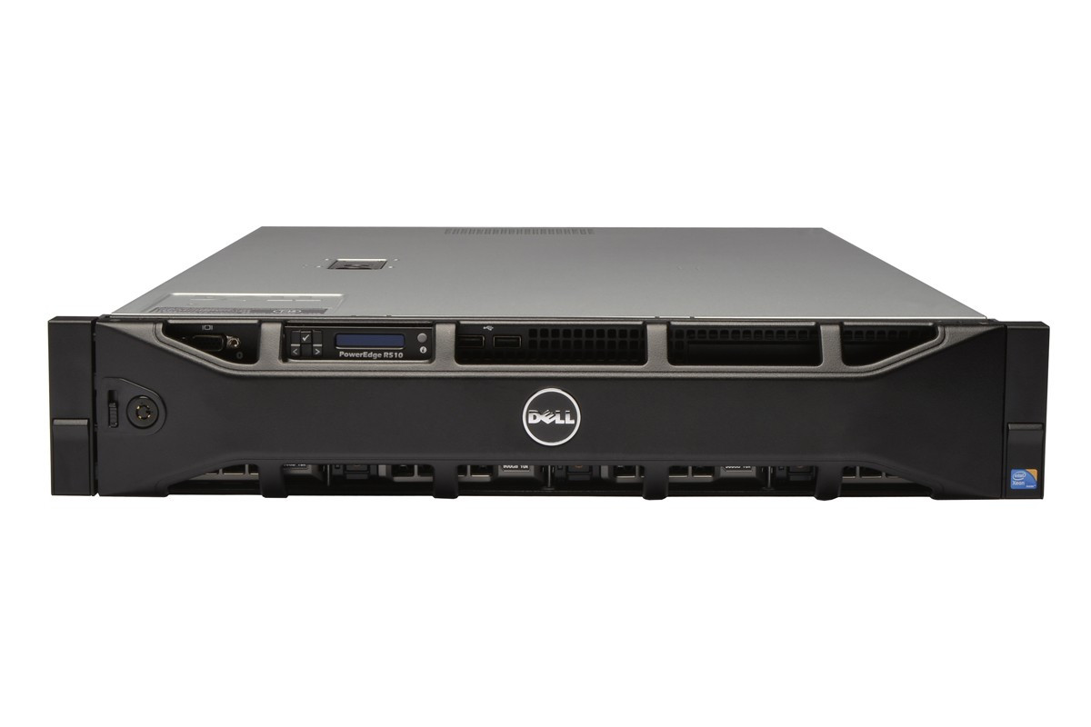 DELL PowerEdge R510 rackmount server - front view