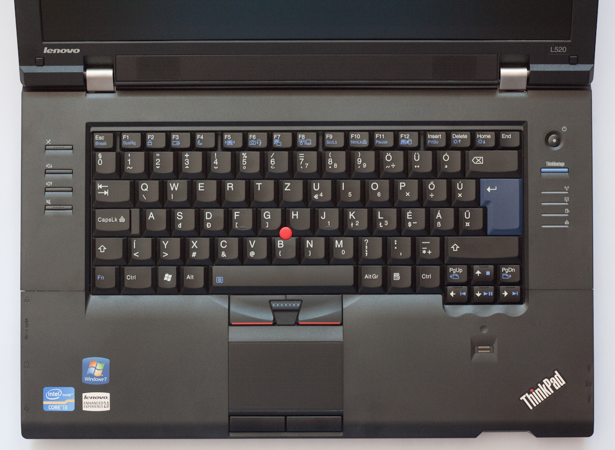 Lenovo Thinkpad L520 - Keyboard View